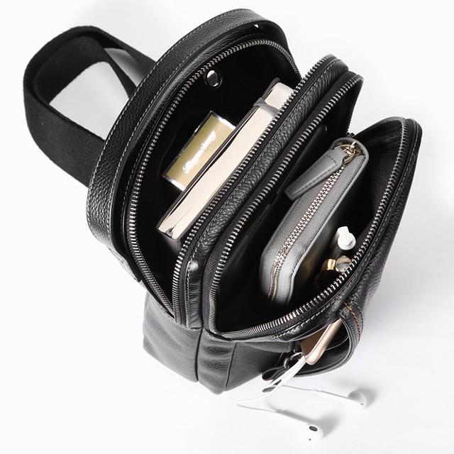 HAUTTON ボディバッグ ショルダーバッグ 斜めがけ 本革 メンズ レザー 2way ステッチ ホートン