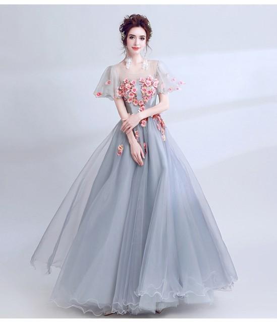7320724e5a0e4 ウェディングドレス パーティードレス 二次会 カラードレス 結婚式 演奏会 花嫁 豪華な 袖あり