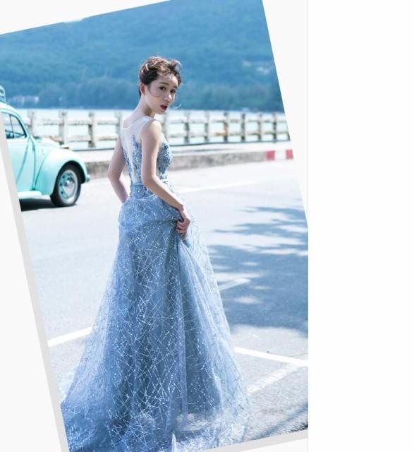 披露宴 大きいサイズ 二次会ドレス 結婚式 ウエディングドレス ラウンドお呼ばれドレス パーティードレス ロングドレス