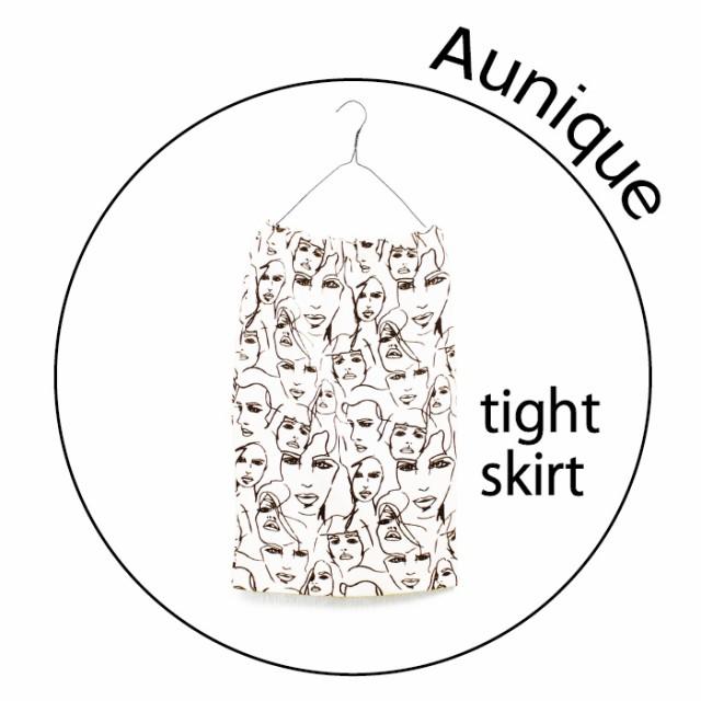 メール便送料無料aunique大人可愛いキュートなタイトスカート