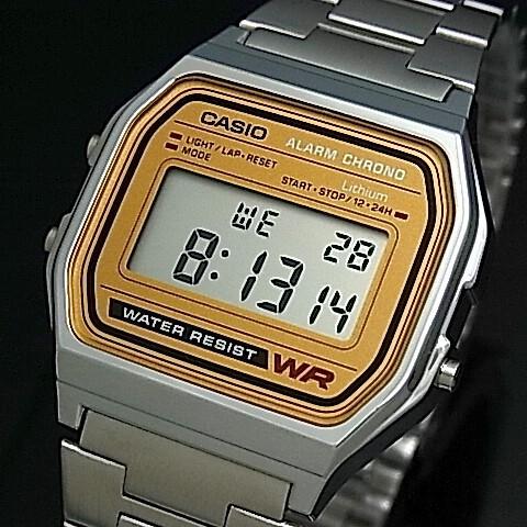 eca26dfdff CASIO【カシオ/スタンダード】デジタル アラームクロノグラフ ボーイズ 腕時計 メタルベルト キャメルブラウン