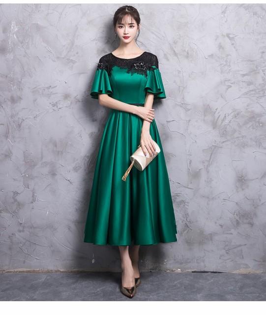ウェディングドレス ロング丈ドレス 二次会 パーティドレス お呼ばれドレス 大きいサイズ ミモレ丈ドレス 成人式 ドレス