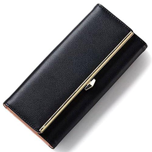EMORE シンプル レディース レザー 長財布 大容量 ラウンドファスナー きらきら かわいい 小銭入れあり