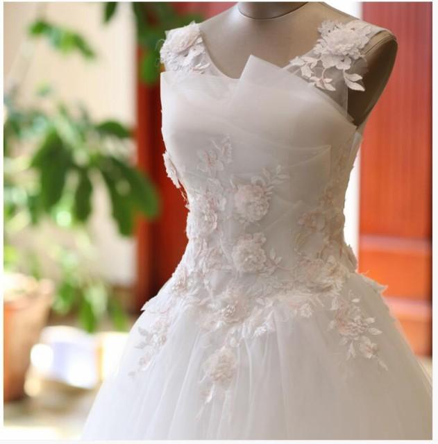 025f354c9a3a0 花嫁ドレス ウエディングドレス披露宴二次会気質バックレス Aライン ロングドレス 白ホワイト ウエディング