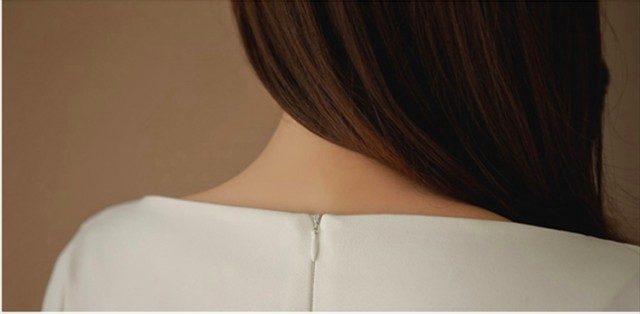 ワンピース ドレス ボートネック 7分袖 花柄刺繍レース ステッチ フェニミン 上品 きれいめ ホワイト ひざ丈 秋冬 お取り寄せ