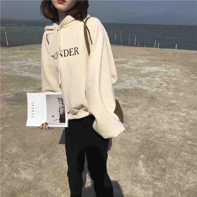 長袖 フード付き パーカー カジュアル
