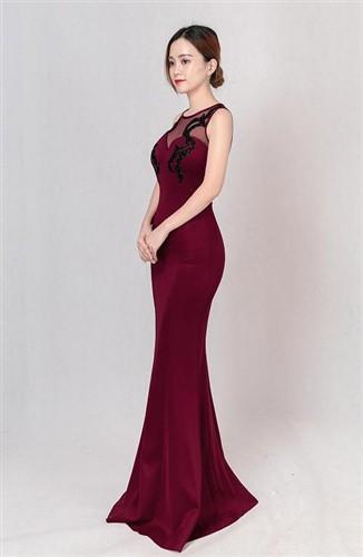 大きなサイズ(XLサイズ)エレガントな欧米style!胸元ストーン装飾デザインフレアーロングドレス キャバドレス bigdore b-lo