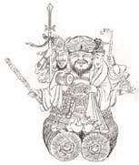 【財布】長財布 ウォレット◆三面大黒天 昇龍 金運 開運【waf mzd nzf】