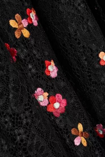 ワンピース ドレス レディース 総レース 刺繍 フェミニン オフショル ロング丈 半袖 お呼ばれ パーティ 二次会 結婚式 シースルー 透け感