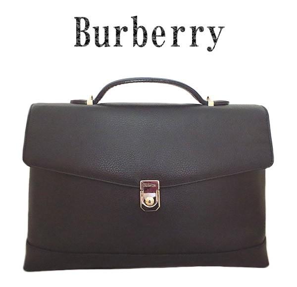 美品 レザー ビジネスバッグ 【中古】 【虹商店】 2way BURBERRY バーバリーズ