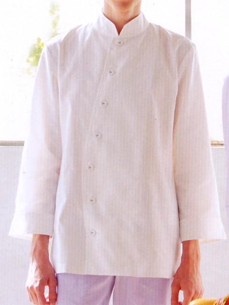 HM21-C3-C9-C10-C30 メンズシノワカラーシャツ 八分袖 全4色 (厨房 調理 白衣 サービスユニフォーム 「KAZEN」)