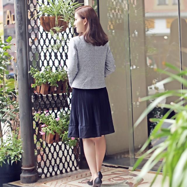 【MG706】引き締まるエレガントな2点スカートスーツセット ツイード 入学式 卒業式 セレモニー オフィス 20代30代40代50代