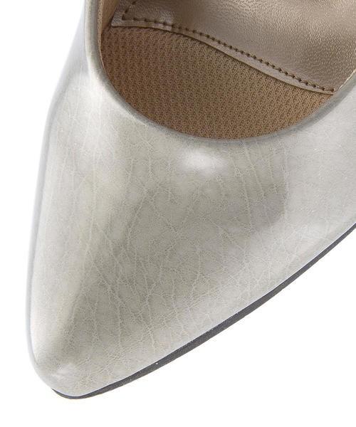 melange(メランジェ) レディース ウェッジパンプス 777063 ライトグレー