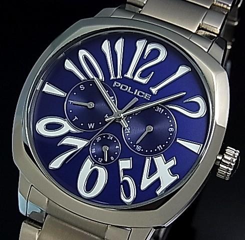 日本最大級 【POLICE/ポリス】TORINO/トリノ メンズ腕時計 マルチファンクション ネイビー文字盤 メタルベルト【国内正規品】13200JS-03MA, トキシ 8710ec8d
