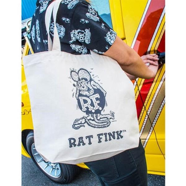 ラットフィンク Rat Fink NEWカラートートバッグ (ホワイト)アメ車 車 カー バイク アメリカン雑貨 アメリカ雑貨 アメ雑 ガレージ雑貨