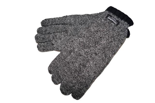 レ二ウム ハイダウェイ rhenium HIDEWAYS 手袋 Thinsulate メンズ ニット グレー ニコル 冬物 男性用 NICOLE
