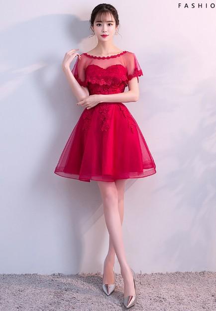 d03c1cd9d9d54 ワンピー パーティー 二次会 プリンセス 流行りの花レース ミモレ丈ドレス ワンピース高級 ウェディング 花嫁ドレス