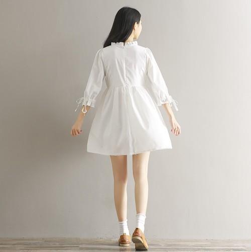 【お取り寄せ商品】白ワンピは特に着回し力抜群♡ 大人可愛い ミニレースワンピースALOC10375
