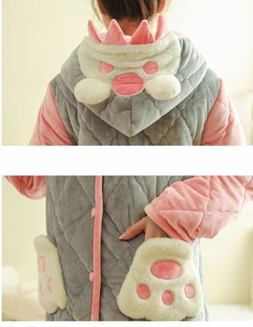 上質な レディースルームウェア/ ロングブランケット/モコモコふわふわの着る毛布/ 部屋着寒さ対策ルームウェア/着る毛布8301727