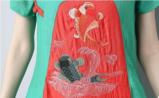 2018春 夏 新作 ワンピース レディースファション ワンピース 刺繍/ひざ下丈 半袖/結婚式 ワンピース パーティードレス 発表会