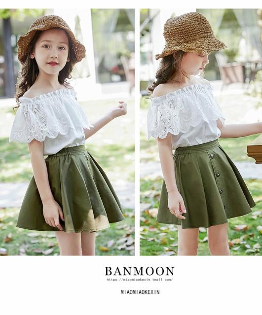 c443d017c76ea 新作 子供フォーマル2点セット シャツ+スカート キッズ可愛いお姫様 女の子ドレス 韓国 子供