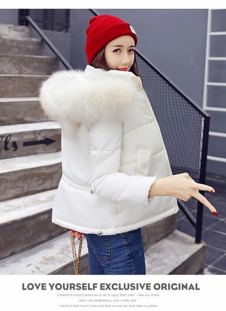 ショート丈 ファーフード 中綿コート レディース XTAL8288