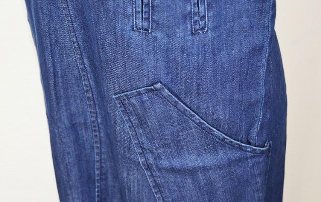 大きめポケット ゆったり ジャンパースカート スリット ロング 2017 春夏秋 カジュアル ガーリー スタイリッシュ 取り寄せ