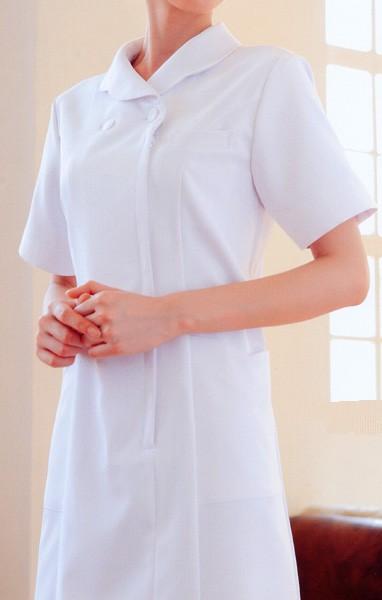 004 ワンピース 半袖 全3色 (看護師 ドクター ナース 介護 メディカル白衣 「KAZEN」)