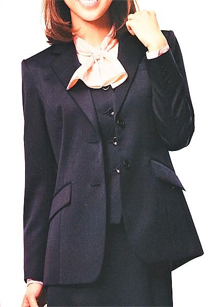新素材新作 S-24131 ジャケット ネイビー 全1色 (セロリー SELERY クレッセ 事務服 制服)-その他レディースファッション