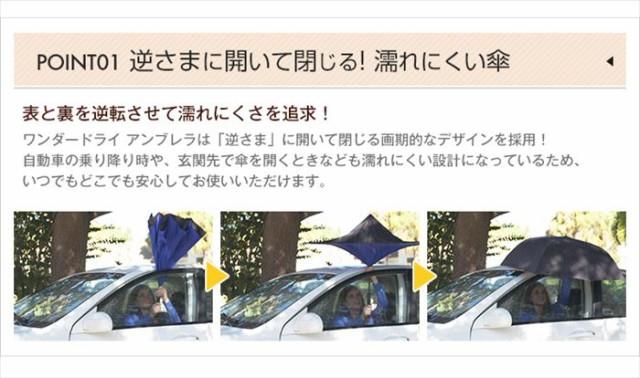 【即納】ワンダードライアンブレラ(カバーなし) 内側のカラー●青 「正規品」