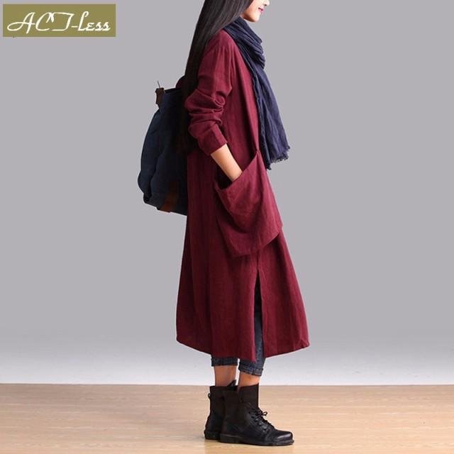 ワンピース ロングワンピース マキシワンピ マキシ丈 ロング丈 体系カバー 大きいサイズ コットン 綿100% ポケット付 M L XL