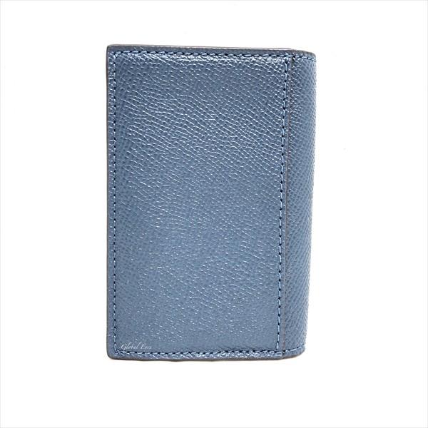 COACH コーチ メンズ バイフォールド カードケース クロスグレイン レザー 名刺入れ F86763 ブルー