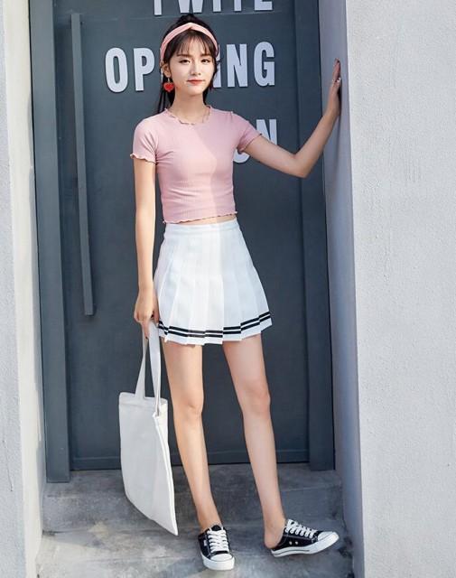 新作 キュロットスカート スーツ生地 プリーツスカートAラインミニスカート学園風美脚セーラー風スカートナチュラル森ガール膝丈スカート
