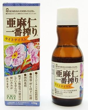 亜麻仁一番搾りライト170g 紅花食品
