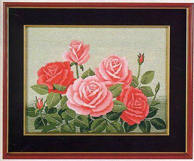東京文化刺繍キット No.108 「二色バラ」 【3号】 【花・植物】 ばら 薔薇