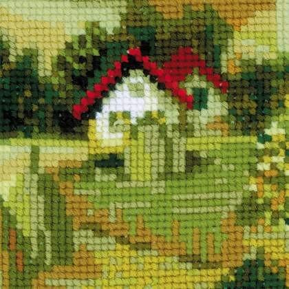 RIOLISクロスステッチ刺繍キット No.1569 「Serbian Landscape」 (セルビアの風景) 【取り寄せ/納期1~2ヶ月】