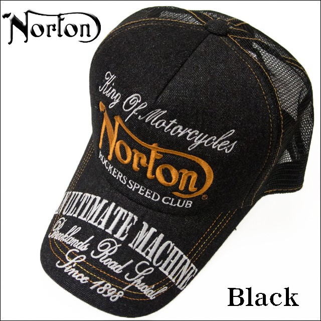 Norton(ノートン) メンズ リジットデニム メッシュキャップ 帽子 173N8706