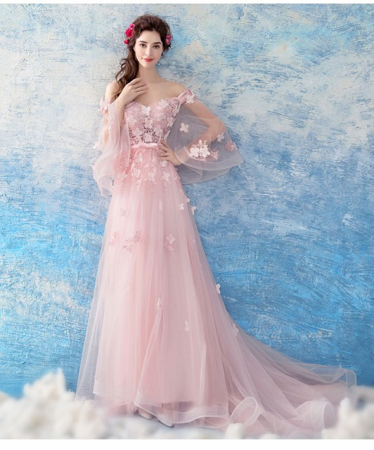 2e216e2828361 カラードレス ロングドレス 安い ピンク 演奏会 コンサート パーティードレス ウェディング 二次会 プリンセス 結婚式