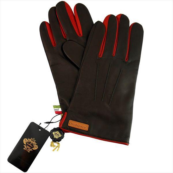 オロビアンコ メンズ手袋 イタリー製 グローブ NAPPA 洋革 ORM-1530 ダークブラウン レッド ギフト プレゼント 誕生日 クリスマス