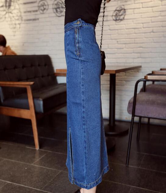ロングスカート レディース 春夏 ロング デニムスカート スリットスカート 着痩せ 美脚 ハイウエストスカート 学生 通気性 スカート