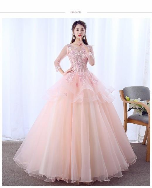 37684ba227c88 豪華なカラードレス 2点セット パニエ付き ウエディングドレス ロングドレス パーティードレス 花嫁