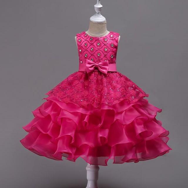a5449fcf48f76 110-170cm子供ドレス フォーマル ドレス 演出 お姫様 お嫁さん フラワーガール ドレス ジュニア ワンピース