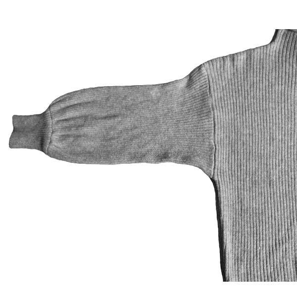 フェミニン ニット セーター ふんわり ハイネック きれいめ ミドル丈 XTAL8231