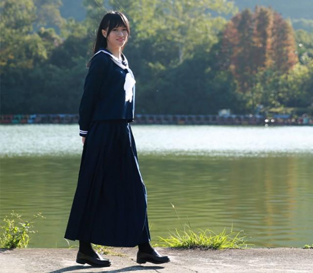 ◆JUVIA◆セーラー服 女子高生 学生服 長袖 入学式 卒業式 女の子コスチューム 上下セット スカート コスプレ衣装 コス 大きいサイズ