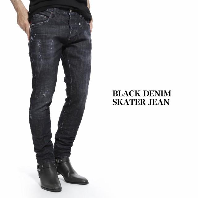 【海外 正規品】 [あす着] ディースクエアード DSQUARED2 ジーンズ メンズ ウォッシュ: BLACK DENIM SKATER JEAN ブラック デニム スケーター, 建築金物館 e7e3c204