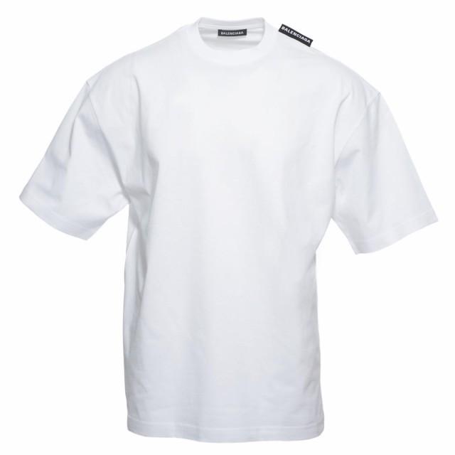 新品入荷 [あす着] バレンシアガ BALENCIAGA クルーネック Tシャツ メンズ LOGO TAB REGULAR T-SHIRT, 長田区 d5573bf4