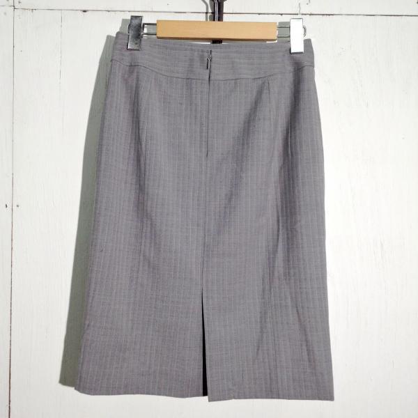 23区 スカート K2493 灰色 / グレー 23ku ストライプ