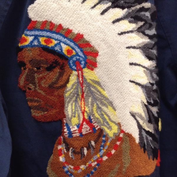シュプリーム Chief Harrington Jacket インディアン ハリントン スイングトップ 18020814 緑 / グリーン × 紺 / ネイビー Supreme