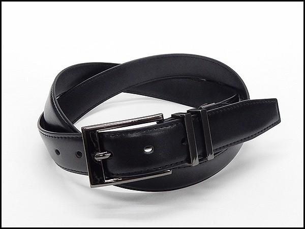 〓STYLISH BLACKS〓スタイリッシュ ブラックス メンズ本革ベルト 黒 2.9cm巾 ビジネスベルト 100cm対応 メール便可能 STY01-BK