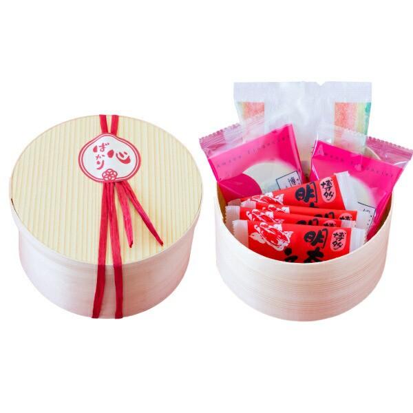 わっぱ入りプチギフト 風美庵の人気菓子3種が詰まった、可愛らしいわっぱのぷちギフト(宅急便発送)